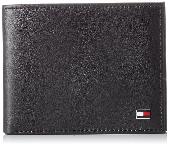 Tommy Hilfiger - Ho Eton Mini Cc Wallet Keyfob Box, Carteras Hombre, Noir (