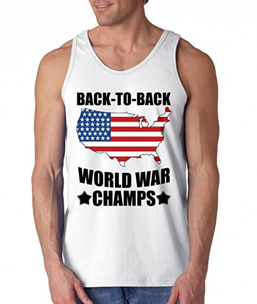 53356259df5 America Back To Back World War Champs Tank Top at Amazon Men s ...