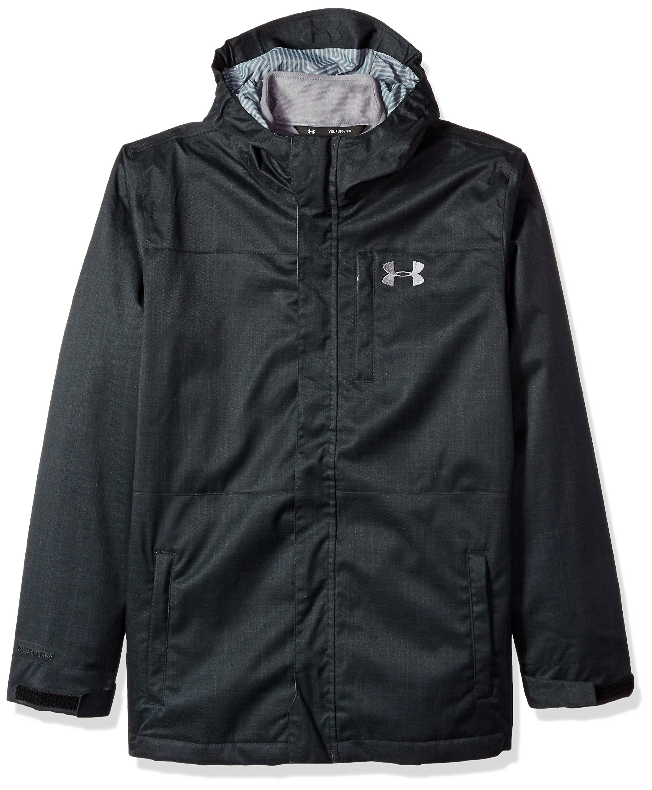 Under Armour Outerwear Boys' UA CGI Wildwood 3-in-1 (Big Kids), Black (002)/Graphite, Youth Medium