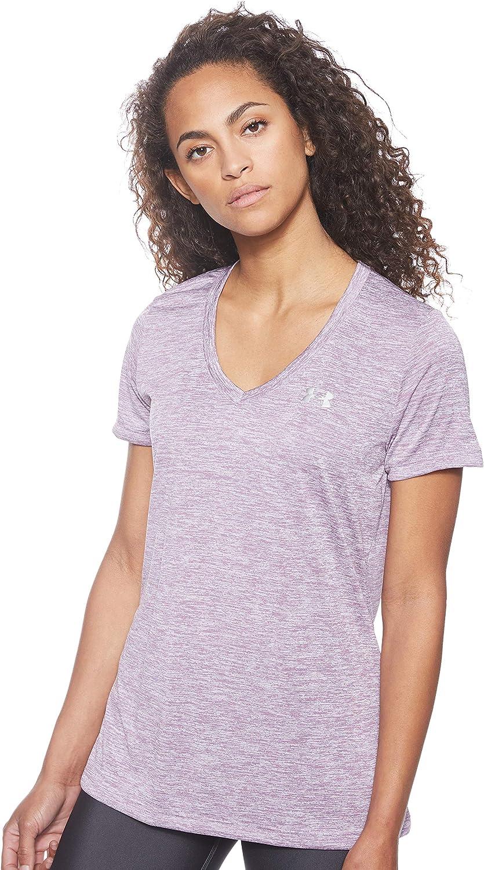 Under Armour Damen kurz/ärmliges /& atmungsaktives Laufshirt f/ür Frauen Twist ultraleichtes T-Shirt mit Loser Passform Tech Short Sleeve V