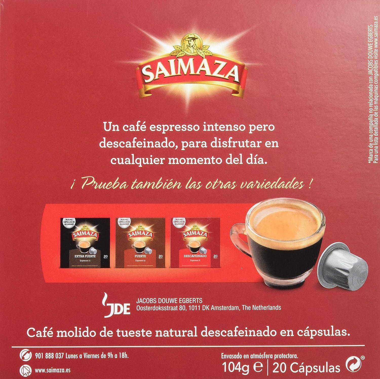 Café Saimaza Espresso Descafeinado - 20 Cápsulas: Amazon.es: Amazon Pantry