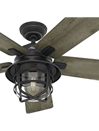 Ceiling fans amazon lighting ceiling fans ceiling fans hunter fan 54 weathered zinc outdoor ceiling aloadofball Images
