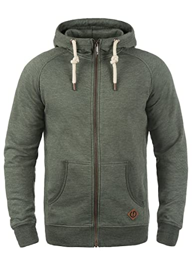 f8de9d9bb Solid Vitu Men's Zip up Hoodie Sweat Hooded Jacket with Hood Made of ...