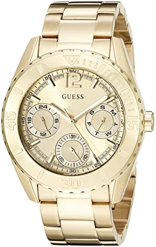 GUESS Women s U0633L1 Sporty Gold-Tone Watch with Multi-Function Dial