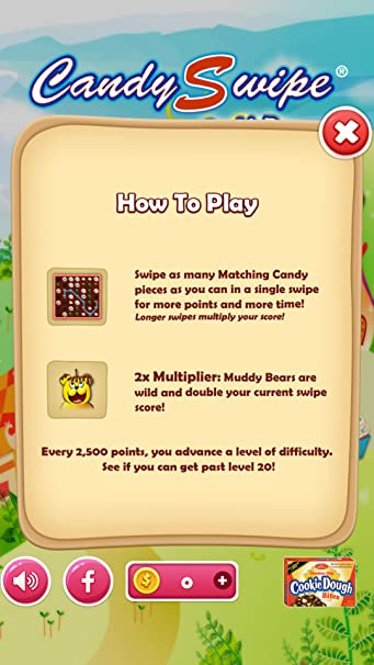 amazon com candyswipe cookie dough bites appstore for android