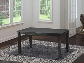 Amazon.com: East West Muebles Rectangular Mesa de comedor ...