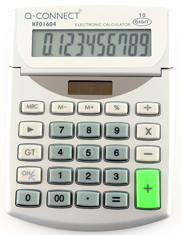 Q Connect 10-Digit Semi-Desktop Calculator