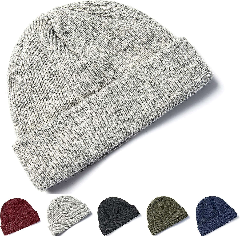 Warm Merino Stocking Hat Elzama 100/% Wool Winter Beanie Knit Hats Cap for Men Women /& Unisex Soft