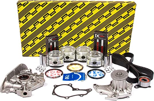 Pistons and Rings Fits 88-89 Chevrolet Geo Prizm Toyota Corolla 1.6L DOHC 4AGE