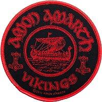Amon amarth parche – Vikings circular – Amon amarth Patch – tejida & licencia oficial..