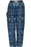 Pantalones harén-ALADDIN Hippie pantalones con cordón en la cintura