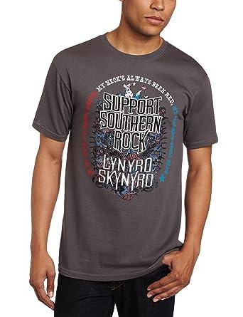 883d5057 Amazon.com: FEA Men's Lynyrd Skynyrd Support Southern Rock T-Shirt: Clothing