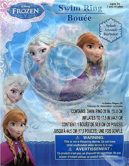 Amazon.com: Disney Frozen Elsa y Anna Swim Ring flotador ...