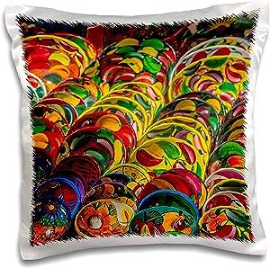 3dRose Danita Delimont - Decor - Local pottery wares for sale at historic Mayan Chichen Itza, Mexico. - 16x16 inch Pillow Case (pc_314383_1)