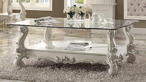 Major-Q 9082103 Antique Bone White Finish Coffee Table