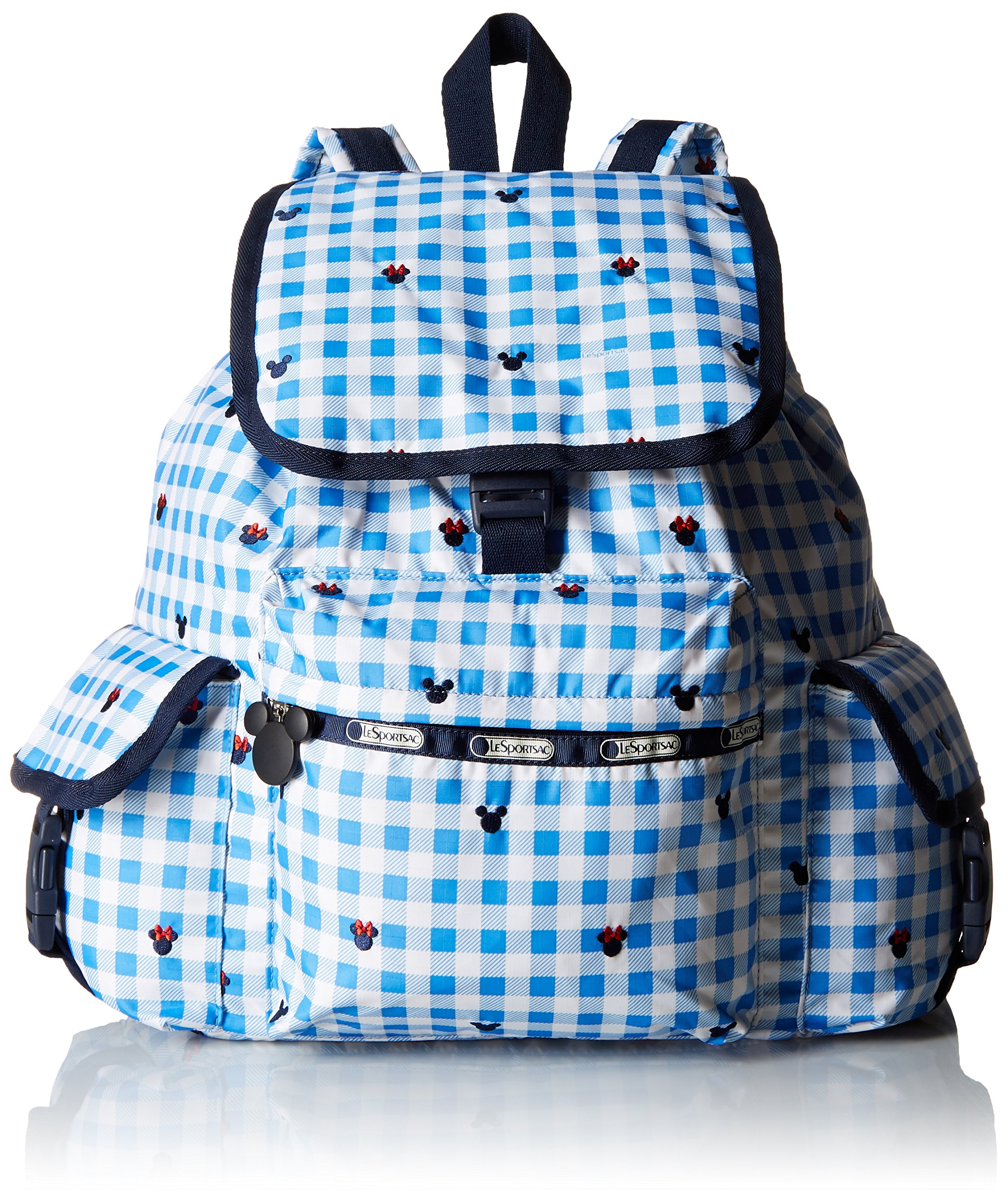 LeSportsac Voyager Back pack, Checks And Bows, One Size