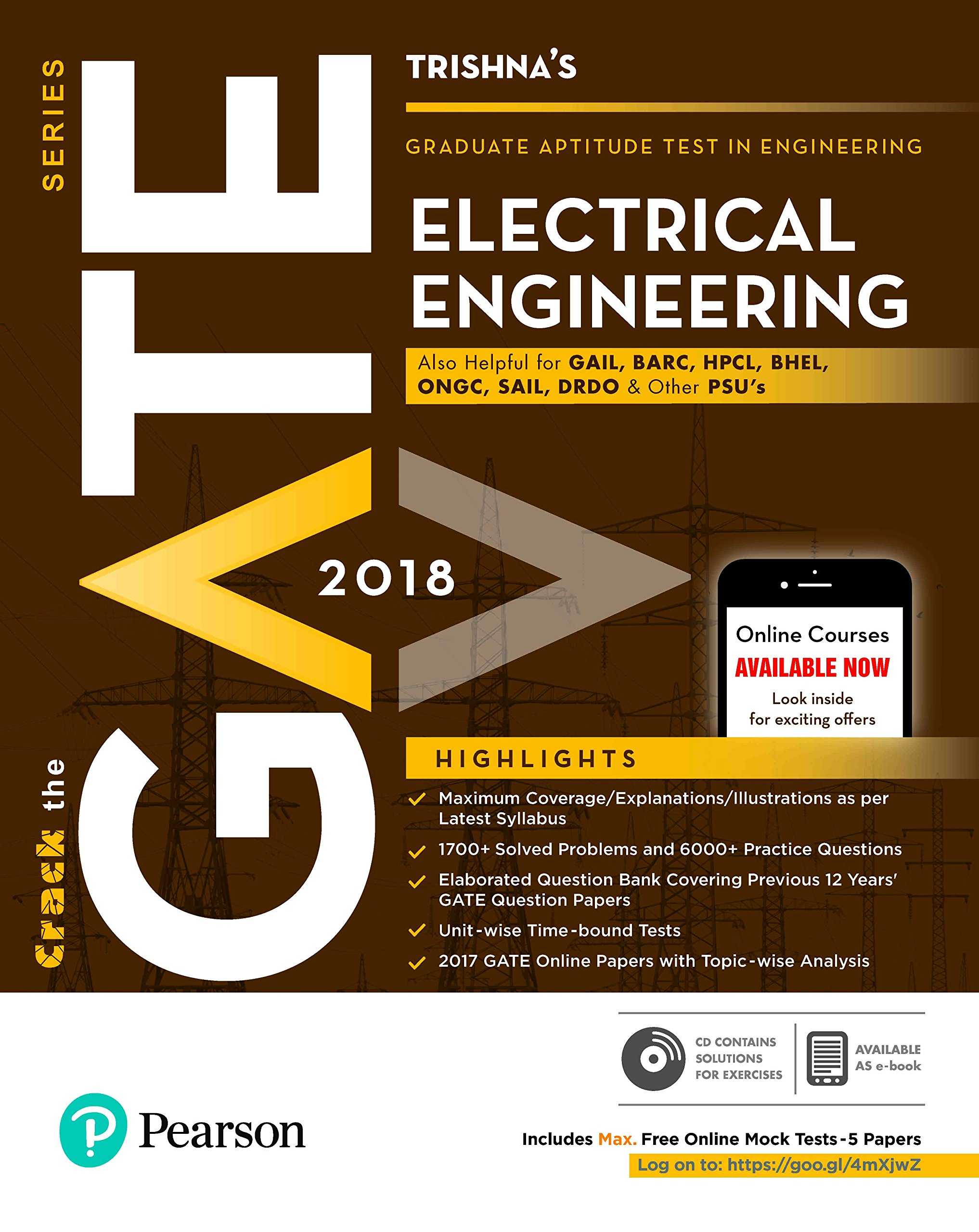 Buy Gate Electrical Engineering 2018 Book Online At Low Prices In Books India Reviews Ratings