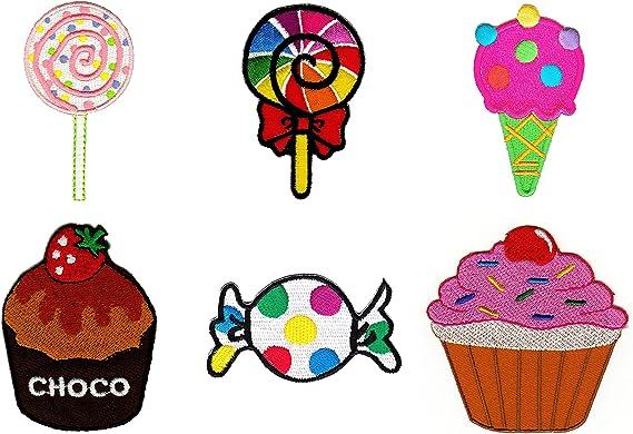 2 X Bonbon écusson//Aufbügler Candy Patch Enfants application Bügelbild Bonbons