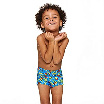 Zoggs Junior Boy/'s Swimming Shorts Blue//Green for 1-6 Years Children