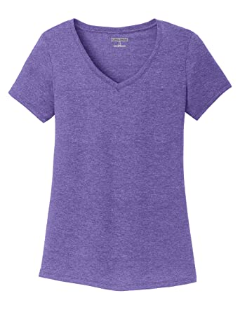 f5a18d0e71b18 Amazon.com  KAMAL OHAVA Women s Tri-Blend V-Neck Ultrasoft T-Shirt ...
