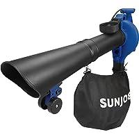 Sun Joe SBJ606E-GA-SJB-RM 4-in-1 Electric Blower   250 MPH   14 Amp   Vacuum   Mulcher   Gutter Cleaner   Blue (Renewed)