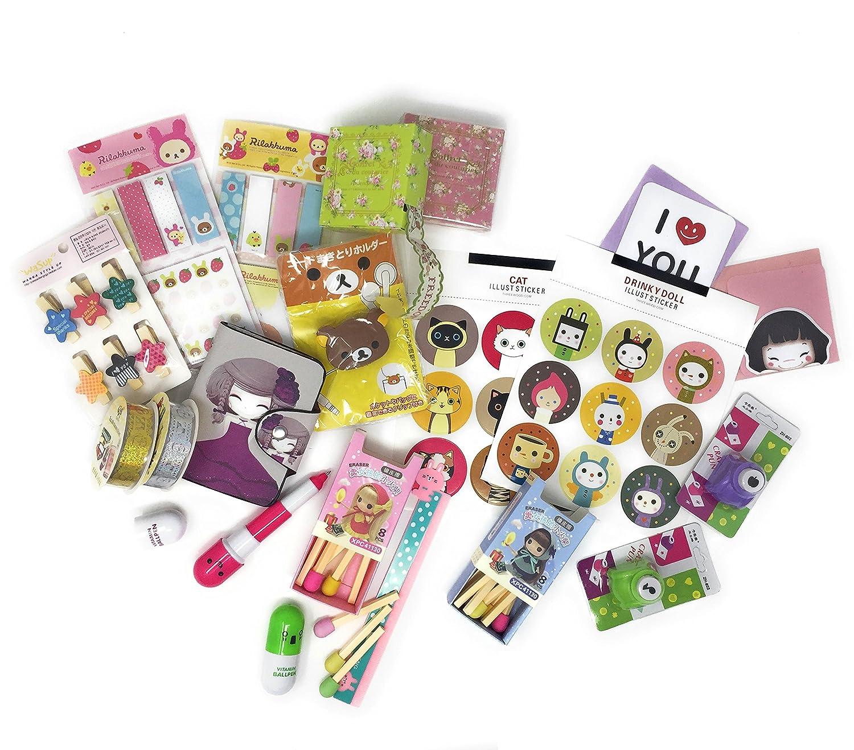 Cute Stationery Accessory Gift Set - Includes Rilakkuma Kawaii Various