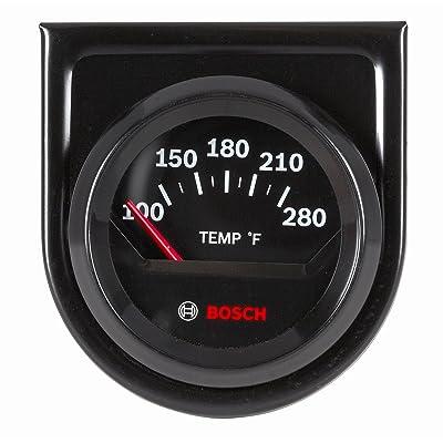 "Bosch SP0F000049 Style Line 2"" Electrical Water/Oil Temperature Gauge (Black Dial Face, Black Bezel): Automotive"