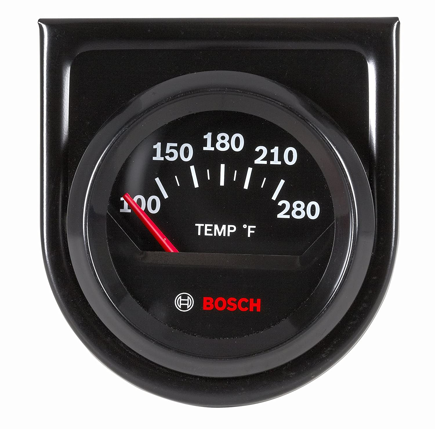 Bosch SP0F000049 Style Line 2' Electrical Water/Oil Temperature Gauge (Black Dial Face, Black Bezel)