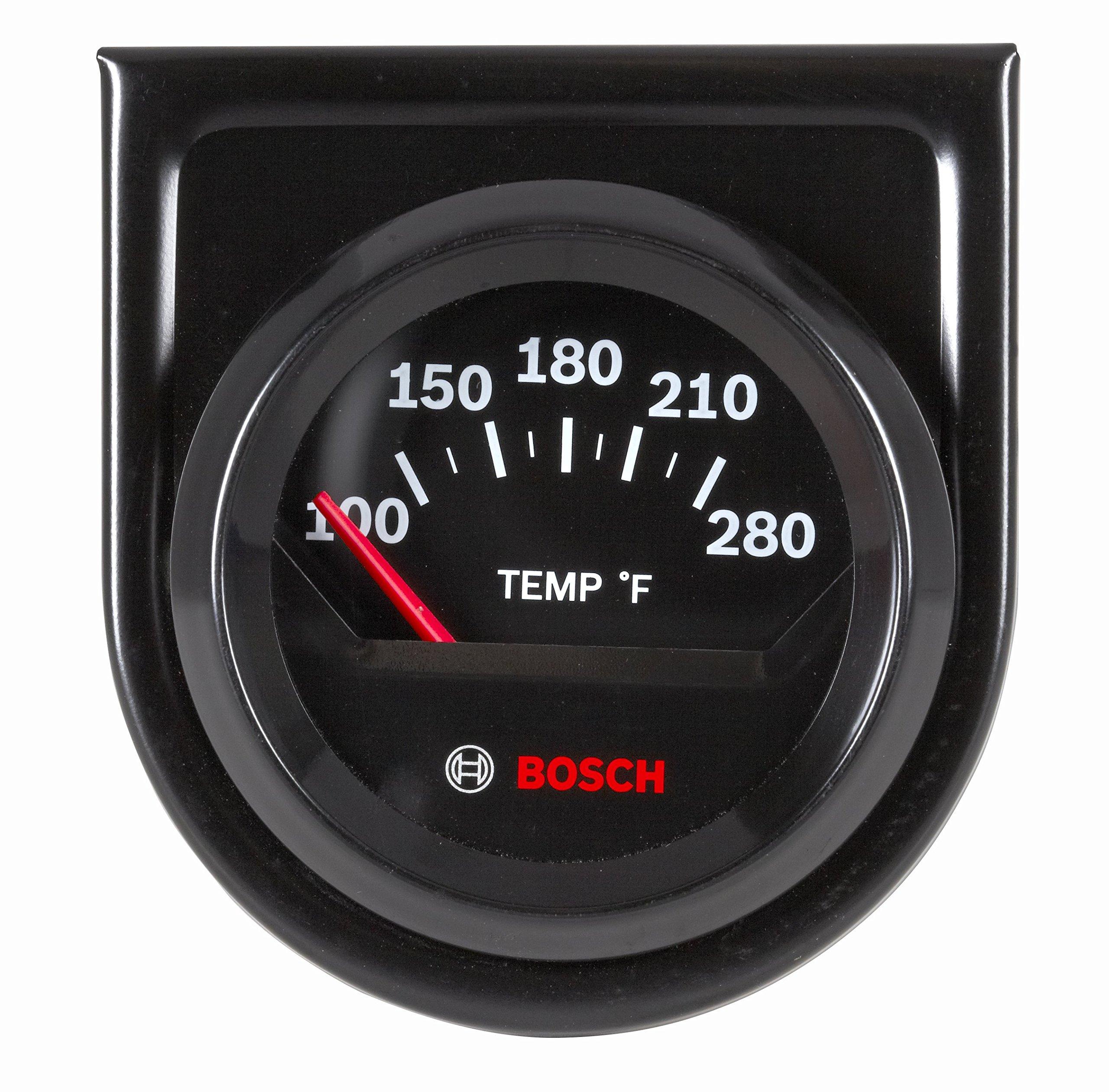 Bosch SP0F000049 Style Line 2'' Electrical Water/Oil Temperature Gauge (Black Dial Face, Black Bezel) by Bosch Automotive