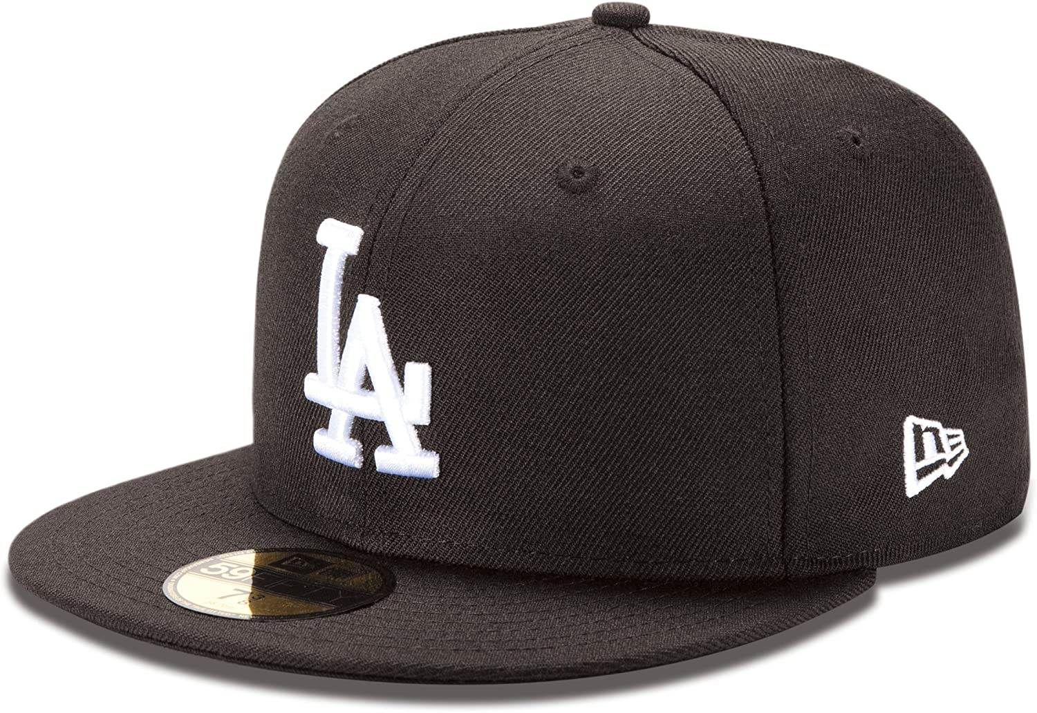 new photos factory price really cheap Amazon.com : MLB Los Angeles Dodgers Black with White 59Fifty ...