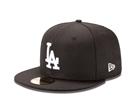 Amazon.com   MLB Los Angeles Dodgers Black with White 59Fifty ... ef8c29ffc057