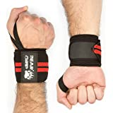 BEAR GRIP - Premium weight lifting wrist support wraps, (Sold in pairs)