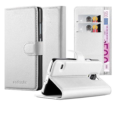Cadorabo Funda Libro para Samsung Galaxy S5 / S5 Neo en Blanco ártico – Cubierta Proteccíon con Cierre Magnético, Tarjetero y Función de Suporte – ...
