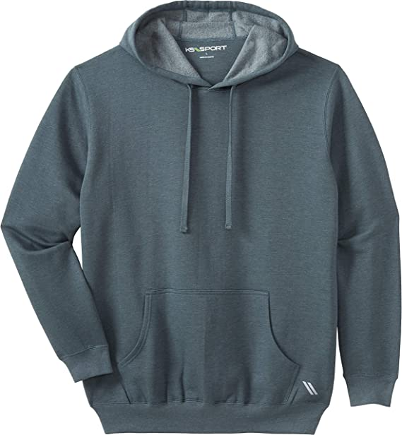 Kingsize Sport Collection Mens Big /& Tall Wicking Fleece Crewneck