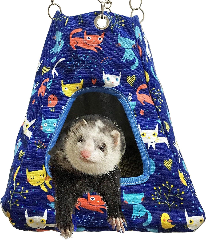 FULUE Small Animal Ferret Rat Guinea Pig Degu Gerbil Mice Hamster Chincilla Hammock Sleeper Cage Accessories