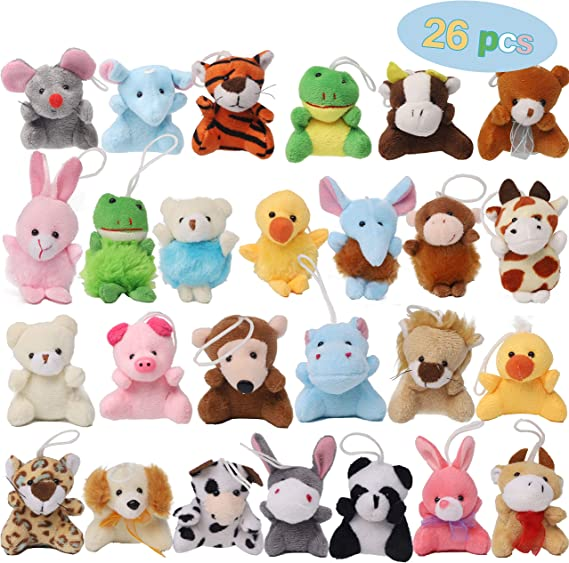 Super Soft Stuffed Animals For Babies, Amazon Com Juegoal 26 Pack Mini Animal Plush Toy Set Aitbay Cute Small Stuffed Animal Keychain Set Goodie Bag Fillers Carnival Prizes For Kids Assortment Kids Valentine Gift Easter Egg Filter Party Favors