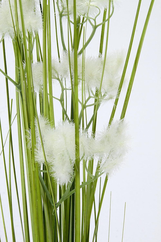 2er Set Gr/ün 8 x 8 x 90 cm Flair Flower Pusteblumengrasbusch Polyester 2-Einheiten Kunststoff