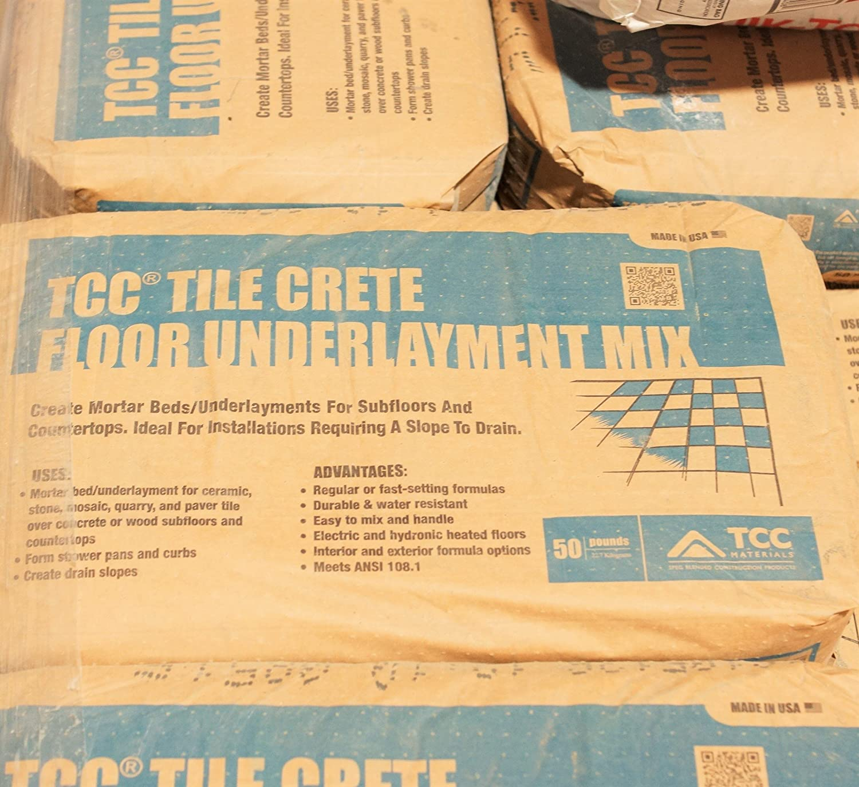 Tile Crete Build Mortar Bed Mud Set Deck Set 50 Lb Bag