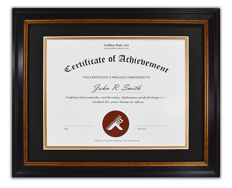 Amazon Golden State Art 11x14 Frame For 85x11 Diploma