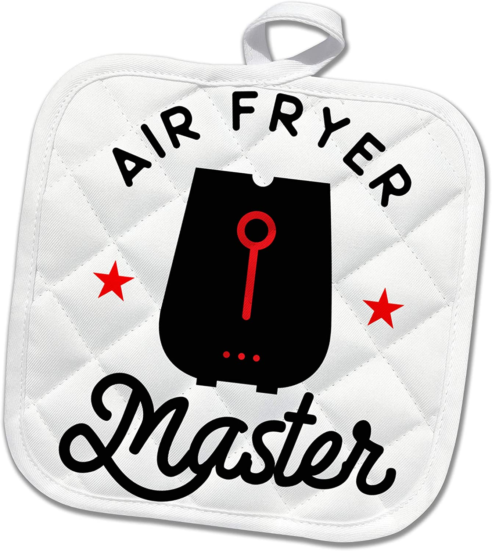 3dRose S.Heller and Kids-Cooking - I love my Air Fryer Master Foodie - Potholders (phl_339135_1)