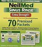 NeilMed Sinus Rinse Hypertonic Packets For Soothing Saline Nasal Rinse - 70 Each