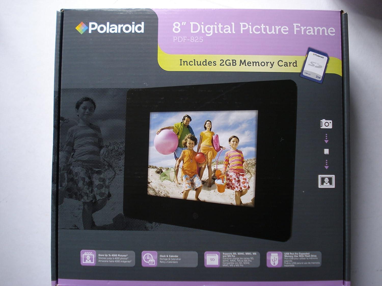 amazoncom polaroid 8 digital picture frame pdf 825 electronic photo frame usb camera photo - Electronic Photo Frames