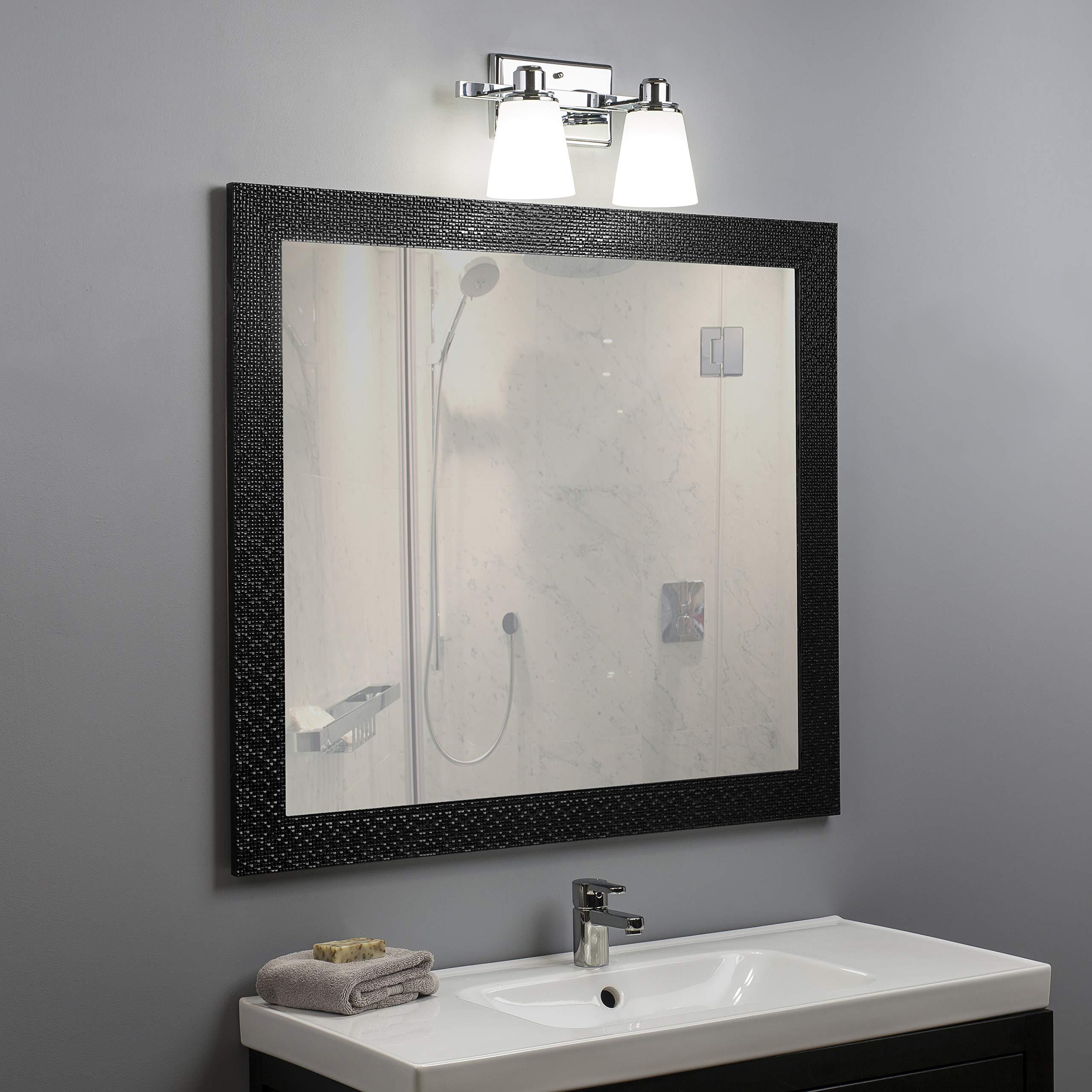Terracina Two-Light Vanity Sconce Lamp, Polished Chrome with Opal Glass Linea di Liara LL-WL220-2 by Linea di Liara (Image #4)