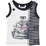 3Pommes Baby Boy's Jersey Sleeveless T-Shirt Pirate and Co