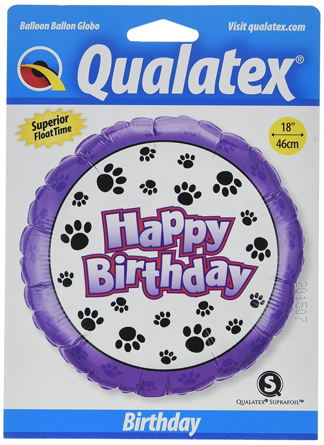 PIONEER BALLOON COMPANY B'day Paw Prints Foil Pack 18