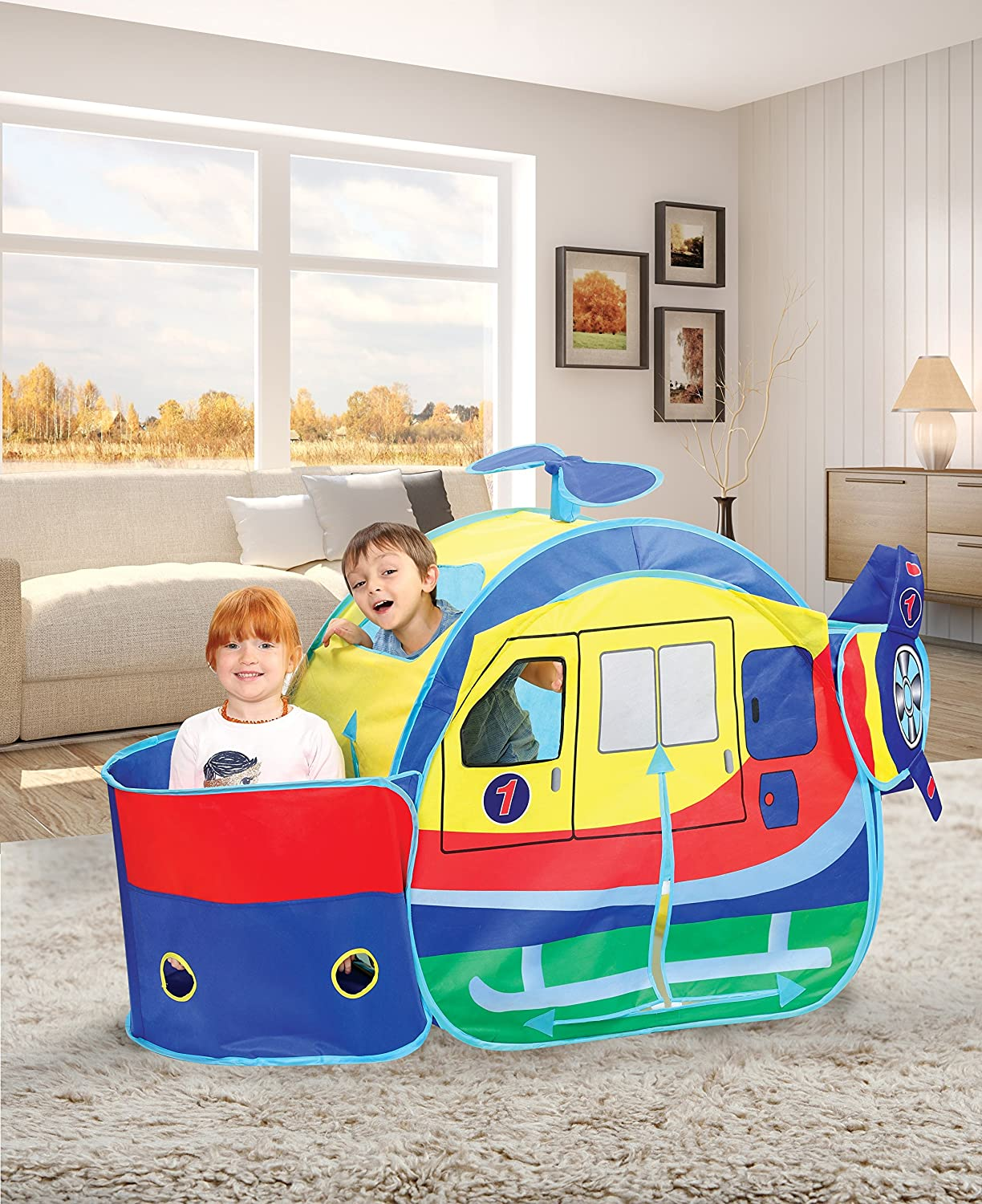 65 Indoor//Outdoor Helicopter Play Tent With Carry Case Play Tents