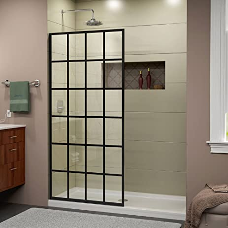 dreamline french linea frameless shower door 34 in x 72