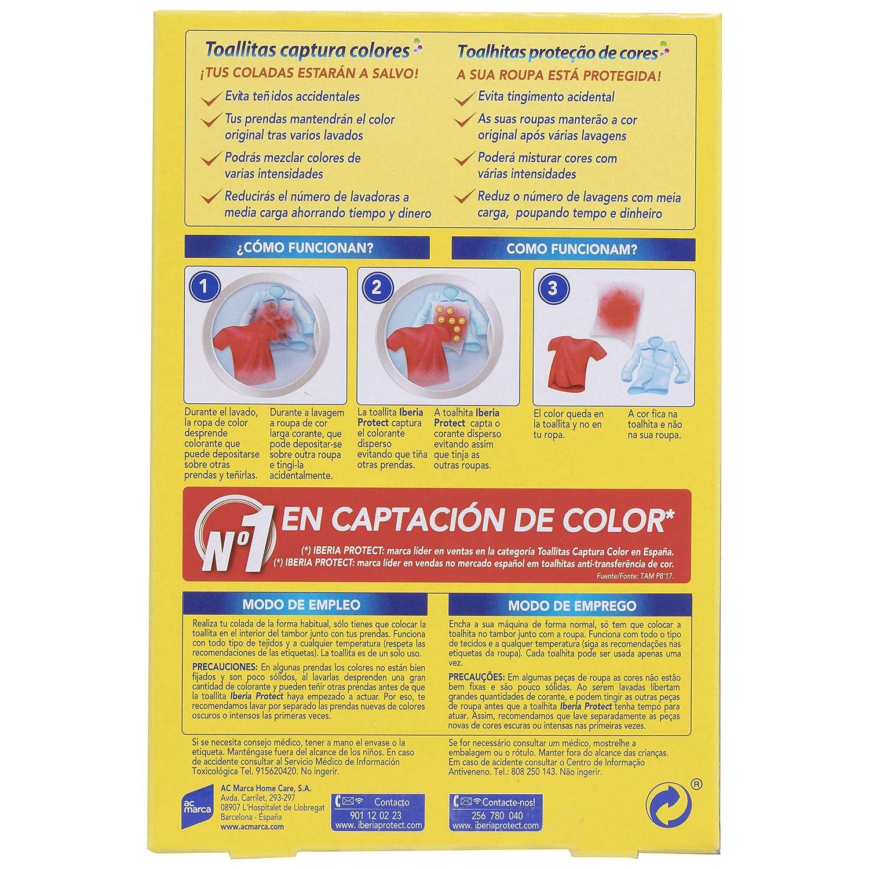 Iberia Toallitas Captura Colores - 25 Unidades: Amazon.es: Salud y cuidado personal