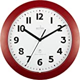 Acctim 74314 Parona, Red Radio Controlled Wall Clock, 23cm Diameter
