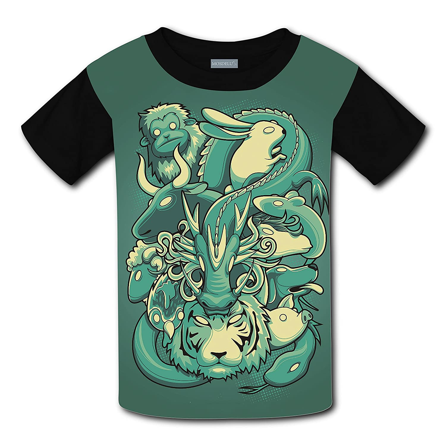 Chinese Zodiac Light Weight T-Shirt 2017 The Latest Version For girlsfree Postage for cheap